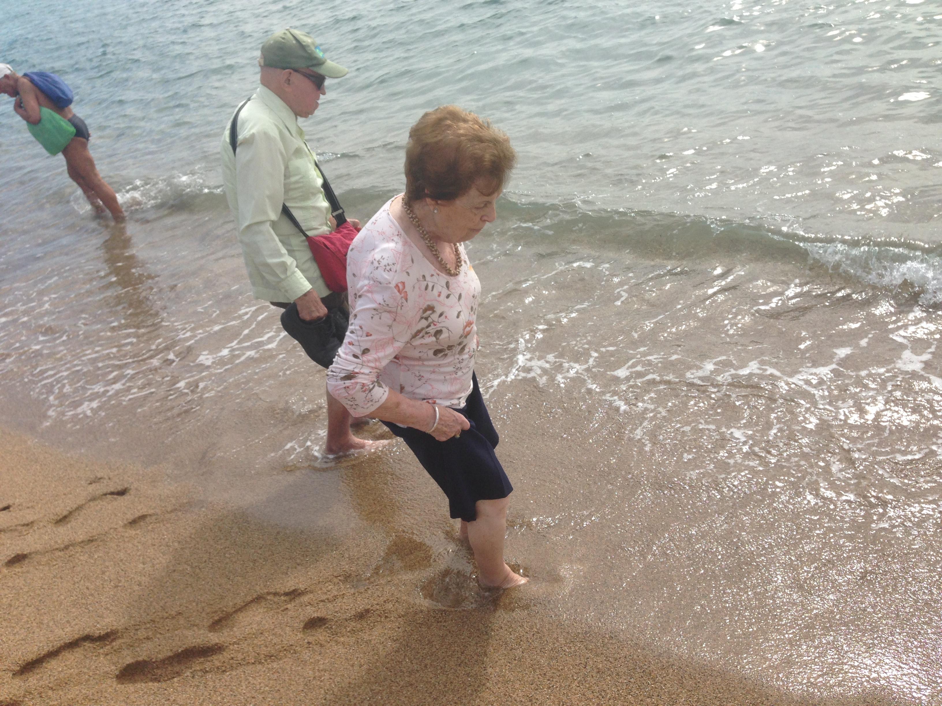 Sortida dels residents a la platja